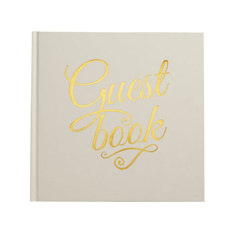Gold Foiled Guest Book Ivory