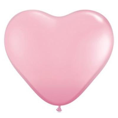Pale Pink Heart Balloons Large
