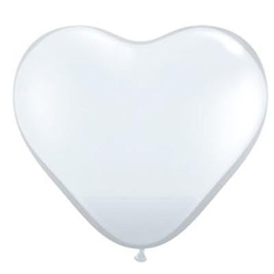 White Heart Balloons - Large