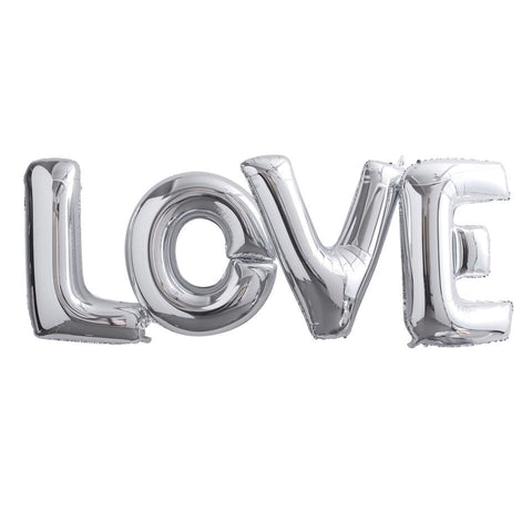 Giant 'Love' Foil Balloons