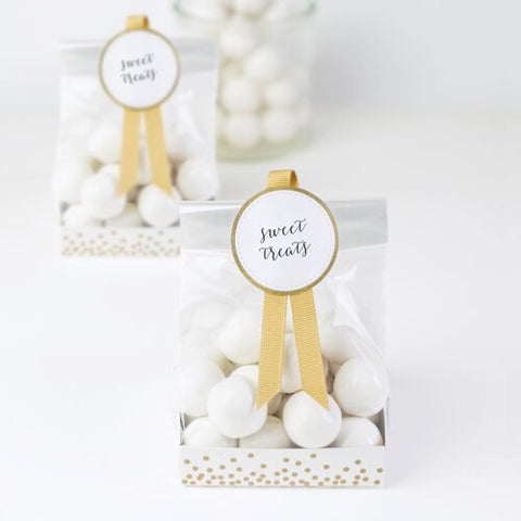 Favour Bags Gold & White