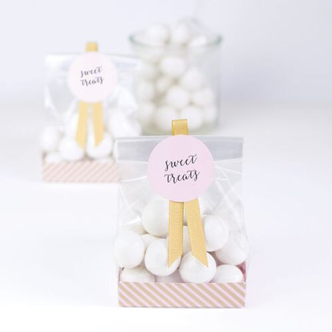 Favour Bags Pink & Gold