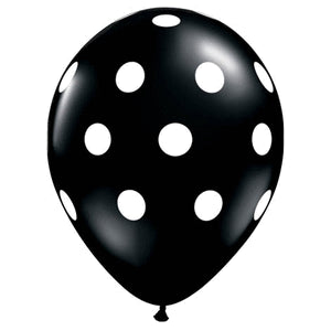 Balloons - Black with Spots