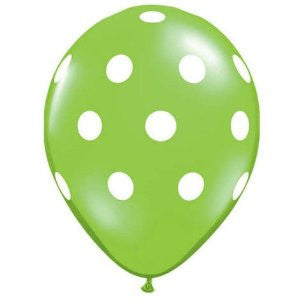 Balloons - Green with Spots