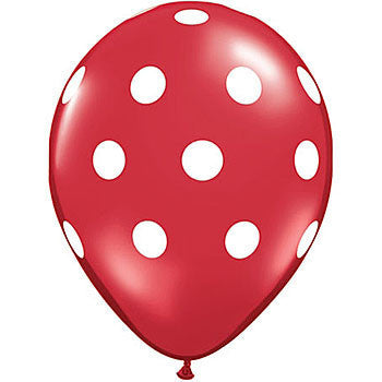 Balloons - Red with Spots