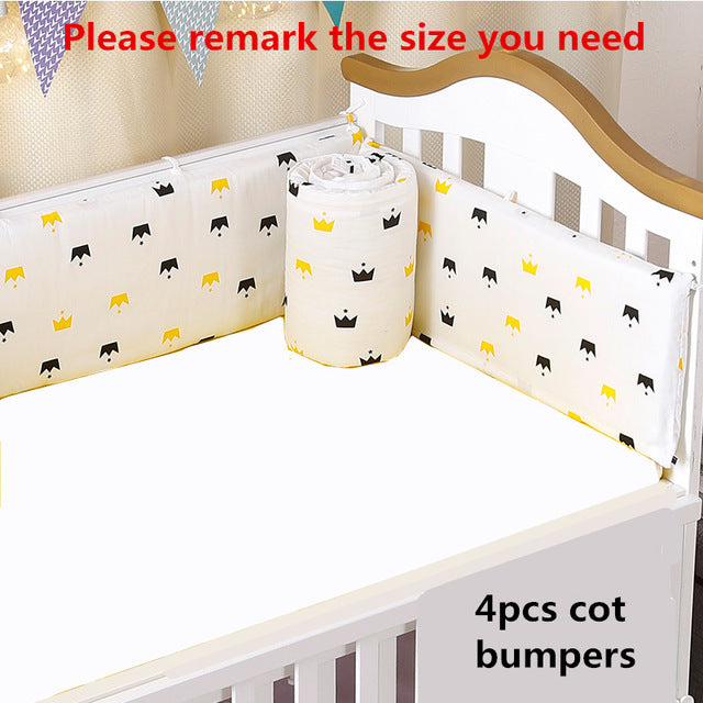 YUEHAPPY/® Bumper 130X30cm and Bed 60X30cm cot Bumper for Babies, cot Bumper Pads for The Head Area of cm cots ,navy 4 pc Baby Bedding Set