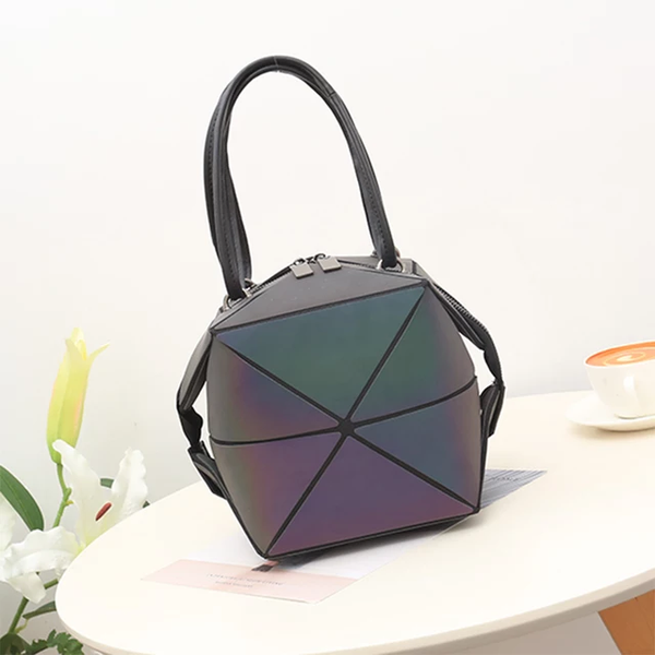 BLACK PATENT LEATHER MULTI-STYLE TOTE