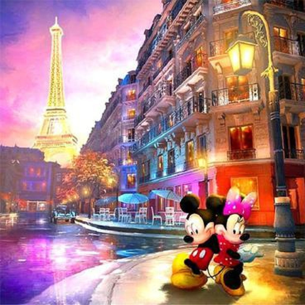 Mickey und Minnie Maus Paris