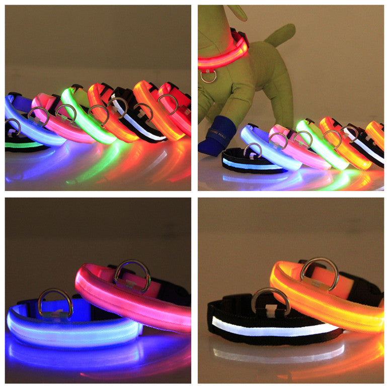LED Nylon Pet Collar. Perfect for the safety of your Pet while you are out. - My Relaxed Pet