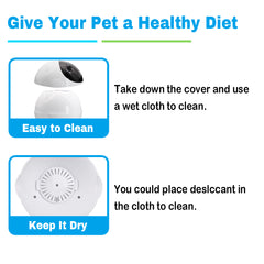 3L Automatic Pet Feeder With Voice Record Pets Food Bowl For Small Medium Dog Cat LCD Screen Dispensers 4 times One Day - My Relaxed Pet