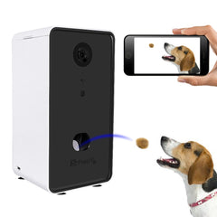 Interactive Pet Feeder With Voice Camera Automatic Pets Food Bowl For Small Medium Dog Cat Night Wifi Vision Cam 0.5L - My Relaxed Pet