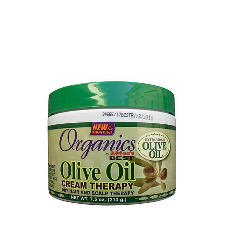 Olive Oil Dry Hair & Scalp Therapy - Africa's Best Organics 213 G