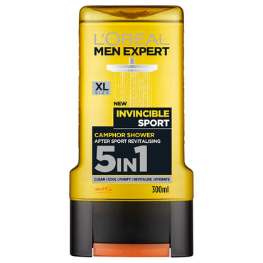 L'oreal Men Expert Invincible Sport 5 In 1 Gel Douche 300 Ml