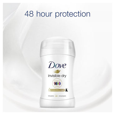 Dove Invisible Dry 48 heures Déodorant Stick pour Protection Hydratante 40 ml