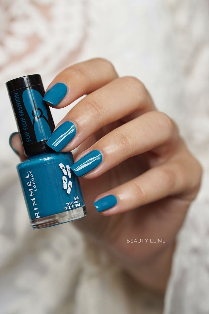 Rimmel 60 Seconds Nail Polish By Rita Ora 8ml 885 TEAL-ING THE SCENE