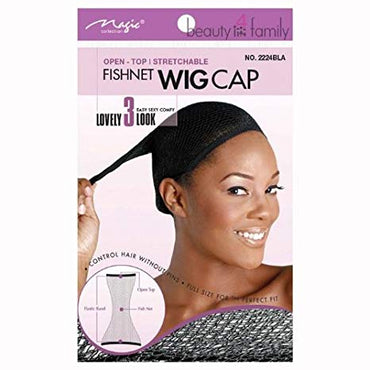 Magic Collection Open Top Fishnet Wig Cap No 2224
