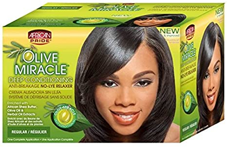 Olive Miracle Anti Breakage No Lye Relaxer - African Pride (Regulier)