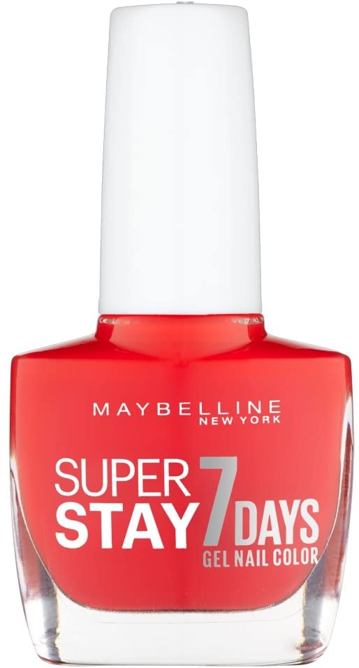Maybelline Nail Polish Holding & Strong pro Gel 505 forever red