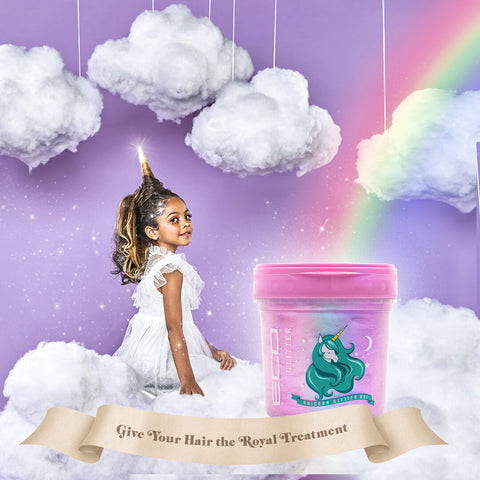 Unicorn Glitter Gel - Gel coiffant Licorne 473 ML