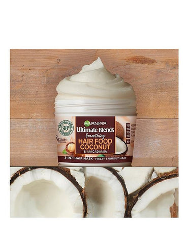 Garnier Ultimate Blends Hair Food Huile de coco 3-en-1Masque