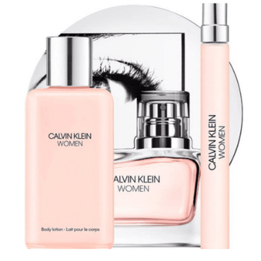 Calvin Klein Women 100ml EDP Spray / 100ml Body Lotion / 10ml EDP Spray