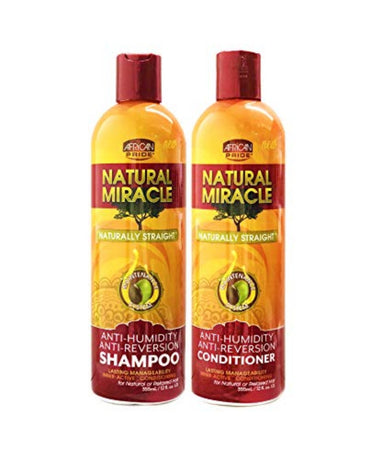 African pride Natural Miracle Shampoing & canditioner anti-reversion