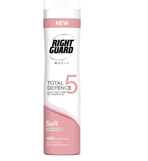 Right Guard Femmes Total Defense 5 Soft Anti-Transpirant 250ml