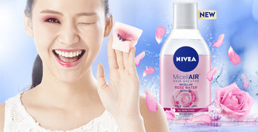Nivea lotion demaquillante micelaire a l'eau de rose 2 in 1 200ml