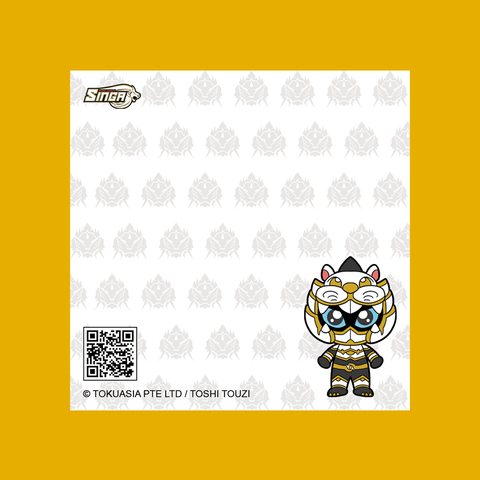 Character Baby Series Sticky Notepad - Sacred Guardian Singa