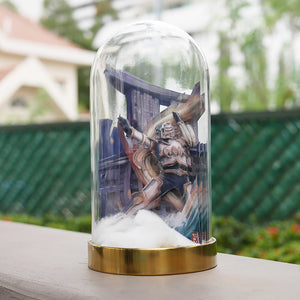 Sacred Guardian Singa Bespoke PaperCraft Glass Dome