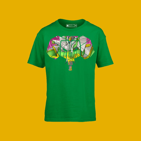 Sacred Guardian Gajaa Kids Tee Irish Green