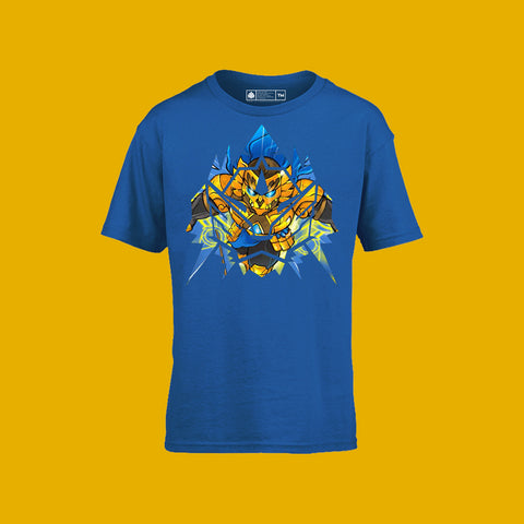 Sacred Guardian Singa - Maha Singa Kids Tee Royal Blue