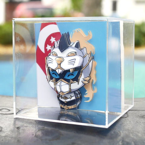 Sacred Guardian Singa Bespoke PaperCraft Chibi Cube - NS Version