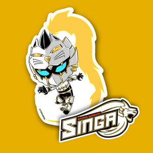 Singa logo and Lionboy Sticker bundle