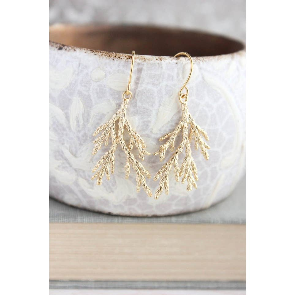 Cedar Tree Branch Earrings