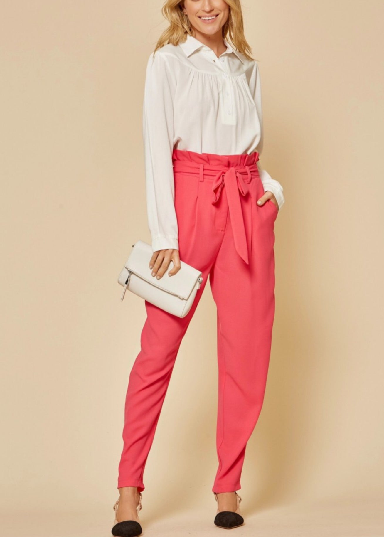Paperbag high waisted Pant