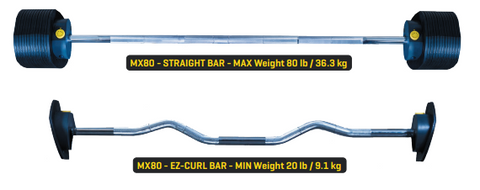 MX80 Straight and EZ Curl Bar