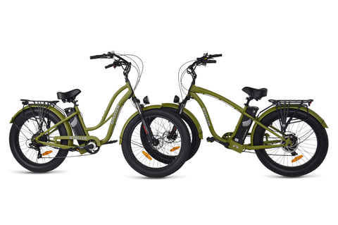 American Electric Steller Comparison of Bike Frame styles