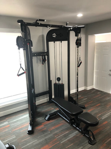 Dual Adjustable Pulley 88 inch Home Gym