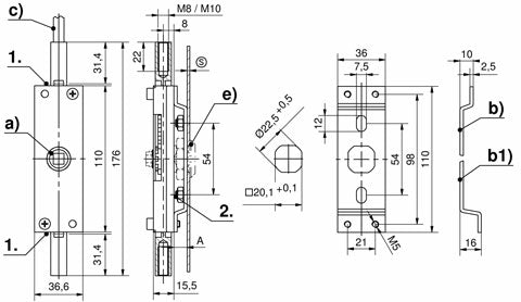 1-410 2-Point Rod Latch RS drawing