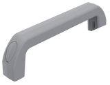 352-2151.03 Extra-length bridge handle in grey RAL 7001