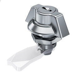 100-9314.00-09999 Stainless Steel IP65 Quarter-turn with wing knob from FDB Panel Fittings - with cylinder