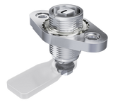 7-086 Flush-mounted Compression Latch L28 Stainless Steel from FDB Panel Fittings
