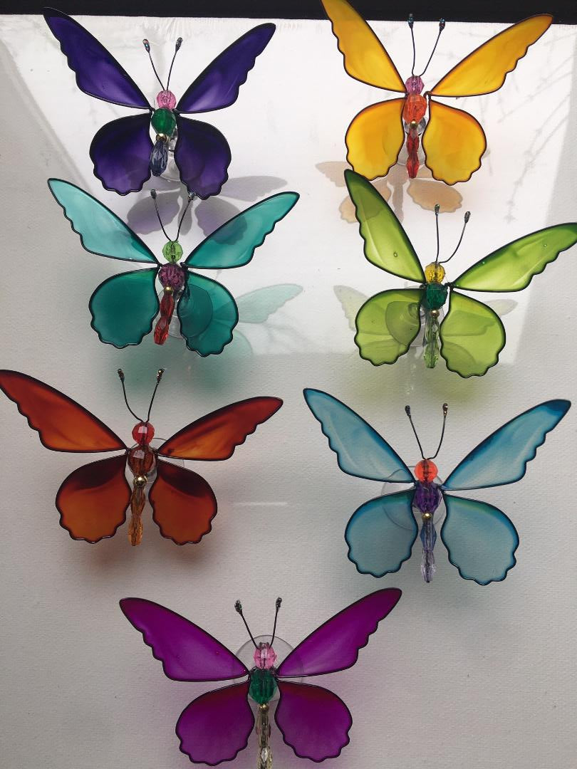 JEWEL BUTTERFLY WINDOW SUCKERS