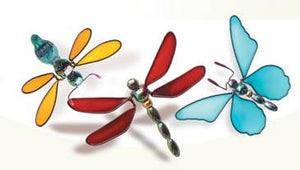 JEWEL BUTTERFLY & DRAGONFLY WINDOW SUCKERS