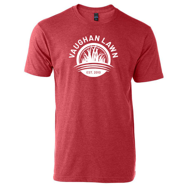 Vaughan Lawn Classic Tee (Heather Red with White Ink)