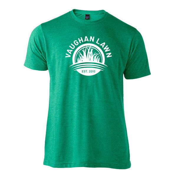 Vaughan Lawn Classic Tee (Heather Kelly Green with White Ink)