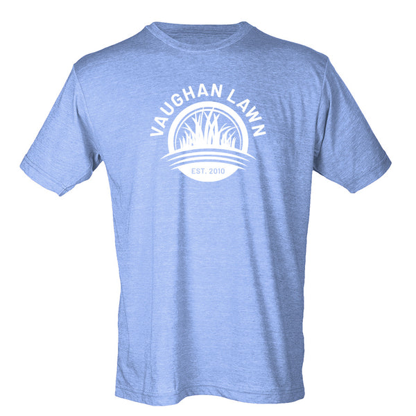 Vaughan Lawn Classic Tee (Heather Athletic Blue with White Ink)