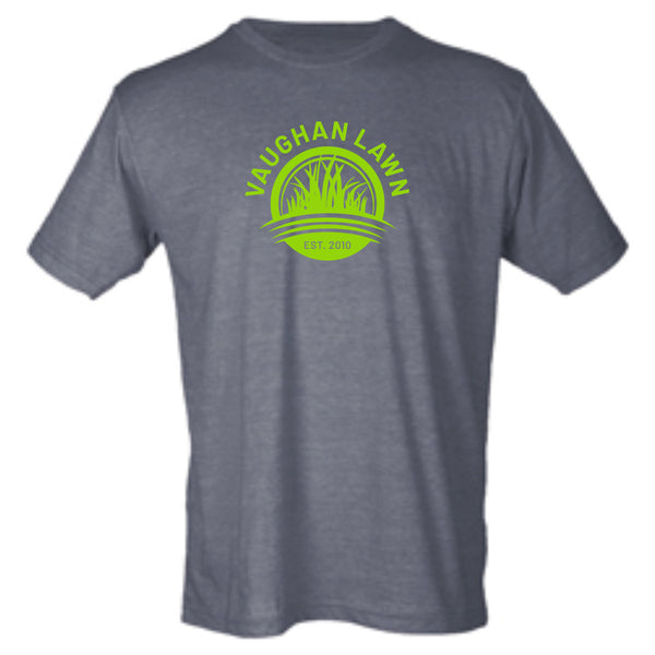 Vaughan Lawn Classic Tee (Heather Charcoal with Kelly Green Ink)