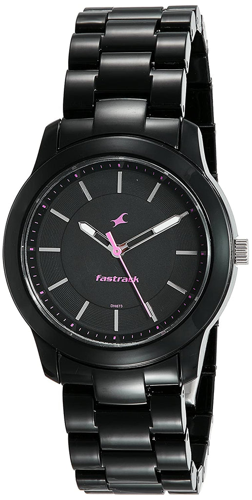 Fastrack Analog Black Dial Women's Watch-68006PP01